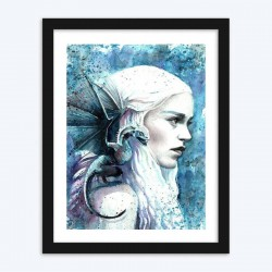 Girl & Dragon Diamond Painting Kit