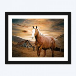Beautiful Horse & Landscape Diamond Painting Kit