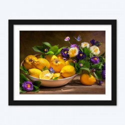 Flowers & Lemons DIY Diamond Painting Kit