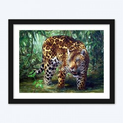Forest Leopard Art Kit
