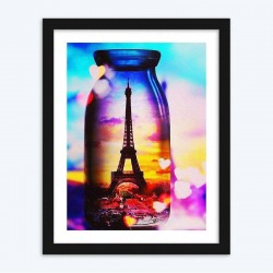 Eiffel Tower in a Bottle