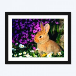Flowers & Rabbits Diamond Painting Kit