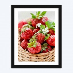 Basket of Strawberries Art
