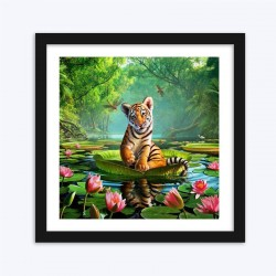 Amazing Tiger & Dragon Flies DIY Diamond Painting