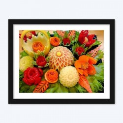 Carving on Vegetables Diamond Painting Kit