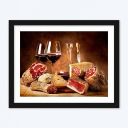 Meat & WineStill Life Diamond Painting