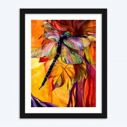 Big Colorful Dragonfly  Diamonds Diamond Painting