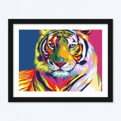 Beautiful Colorful Tiger