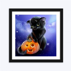 Big Black Halloween Cat