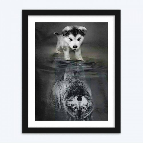 Dog and Wolf Diamond Painting