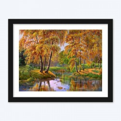 Autumn Forest Scenery Diamond Painting