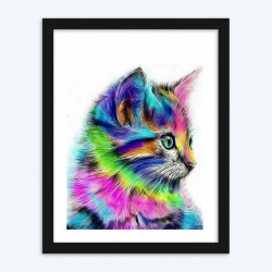 Big Colorful Cat   for your Wall
