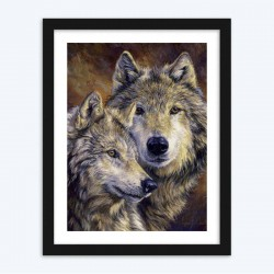 Beautiful Wolves Diamond Painting