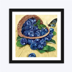 Sweet Blue Berries & Beautiful Butterfly