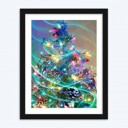 Beautiful Decorated Christmas Tree  Art Kit