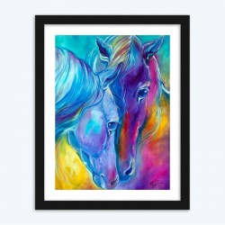 Incredible Diamond Painting of Horses