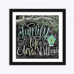 Family Life Love Beautiful Text Diamond Painting for your Wall