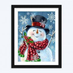 Elegant Snowman DIY Diamond Paintings