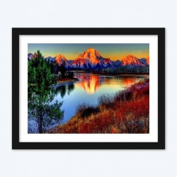 Beautiful View of Lake & Mountains Paint with  Diamonds Kit