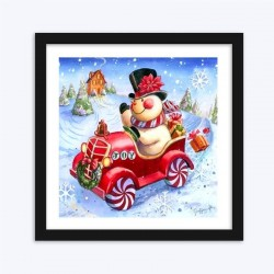 Snow Man Christmas DIY Diamond Painting