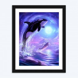 Jumping Dolphins DIY  Art