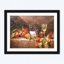 Wine Glass & Fruits  Art Kit