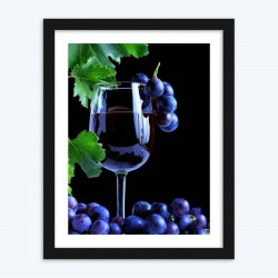 Grape Wine in the Glass