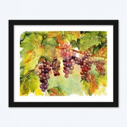 Grapes Bunch on Branches Diamond Painting kit