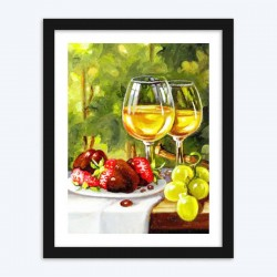 Strawberries & Wine Glasses