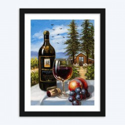 Wine Bottle & Fruits