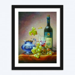 Wine & Grapes Diamond Painting Kit