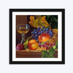 Wine Glass & Fruits