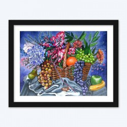 Fruits & Flowers BasketDIY  Art Kit