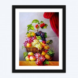 Basket Full of Fruits  Art Kit