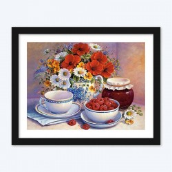 Berries &  Flowers Still Life Diamond Painting