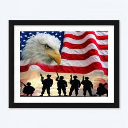 American Flag & Eagle Diamond Painting Kit