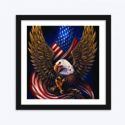 Eagle with Flag  Art Kit