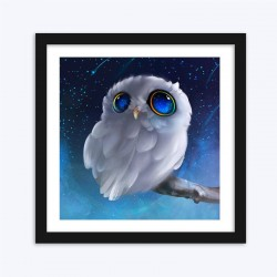 Cute White Owl  Art Kit