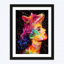 Abstract Wolf Lady