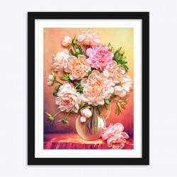 Lovely Peonies in Glass Vase