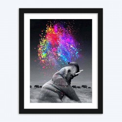 Elephant Colorful  Art Kit