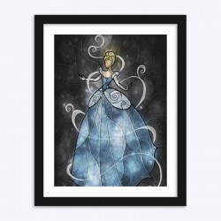 Stained Glass Dancing Cinderella Diamond Painting Kit