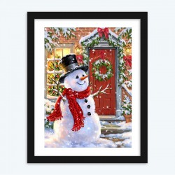 Christmas    DIY Diamond Painting Santa Claus Red House
