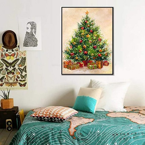 DIY   Diamond Painting by Number Kits Full Round Drill Rhinestone Picture Art Craft for Home Wall Decor Christmas Tree